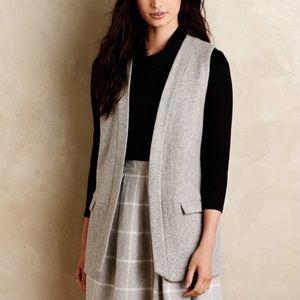 Anthropologie / Elevenses // Easton Grey Wool Vest